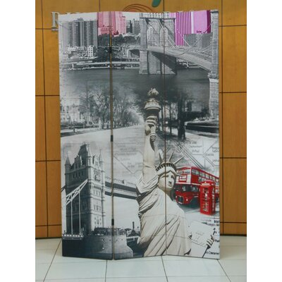 Gallardo Scenery 3 Panel Room Divider