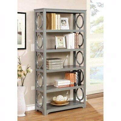 Torma Contemporary Etagere Bookcase Color: Gray