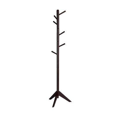 Poynter Contemporary Style Hall Tree Coat Rack Color: Dark Brown