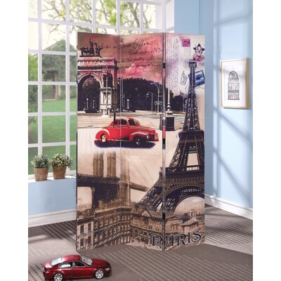 Pagano Paris Scenery 3 Panel Room Divider