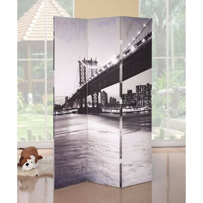 Galipeau Bridge Scenery 3 Panel Room Divider