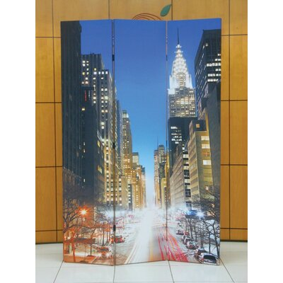 Gallager Town Scenery 3 Panel Room Divider