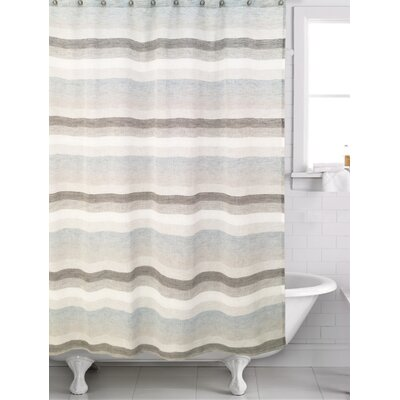 Filler Horizon Shower Curtain Color: Gray/Blue