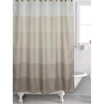 Filkins Shower Curtain Color: Gold/Brown