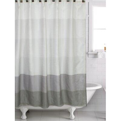 Filkins Shower Curtain Color: Gray/Black