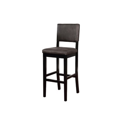 "Phillip 30"" Bar Stool Upholstery: Antique Charcoal"