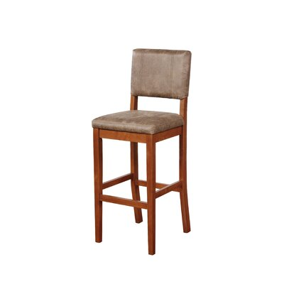 "Phillip 30"" Bar Stool Upholstery: Antique Brown"
