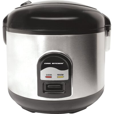 10 Cup Cool Kitchen Deluxe 3 Piece Rice Cooker Set