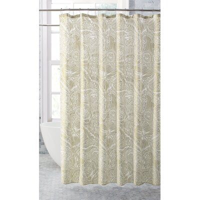 Feingold Harper Metallic Floral Shower Curtain Color: Taupe