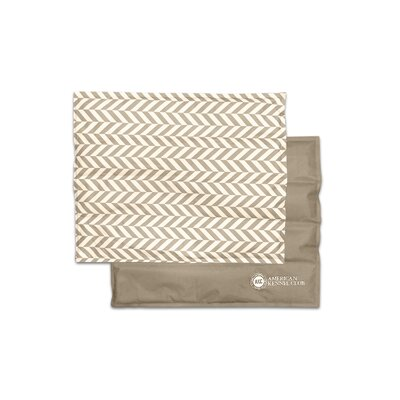 "Herringbone Pet Cooling Mat/Pad Size: Large (20"" W x 26"" D x 0.5"" H), Color: Tan"