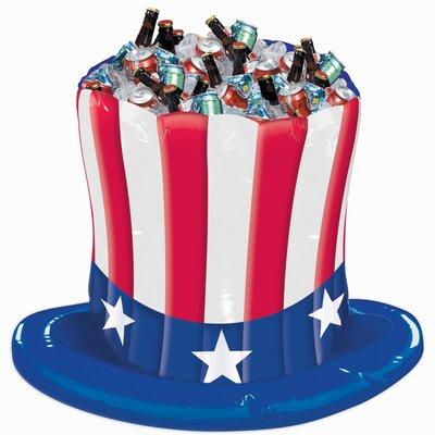 Patriotic Uncle Sam Hat Inflatable Cooler