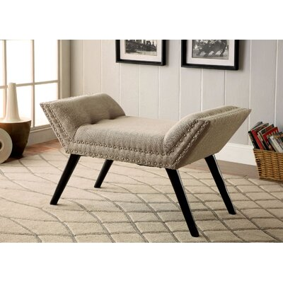 Elke Upholstered Bench Upholstery: Ivory