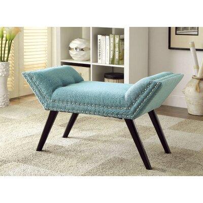 Elke Upholstered Bench Upholstery: Blue