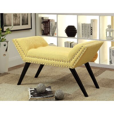 Elke Upholstered Bench Upholstery: Yellow