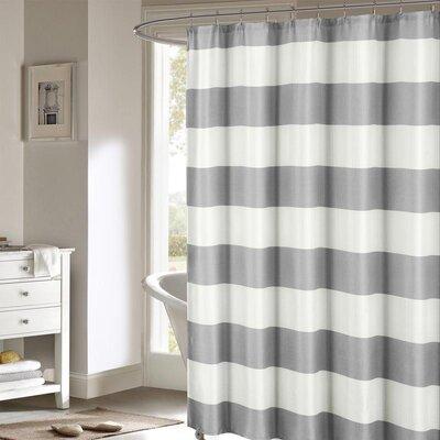 Nieman Shower Curtain Set Color: Gray