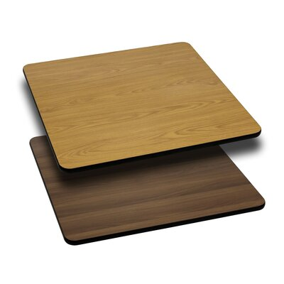 "Pinella Square Table Top Size: 42"" L x 42"" W, Finish: Natural/Walnut"