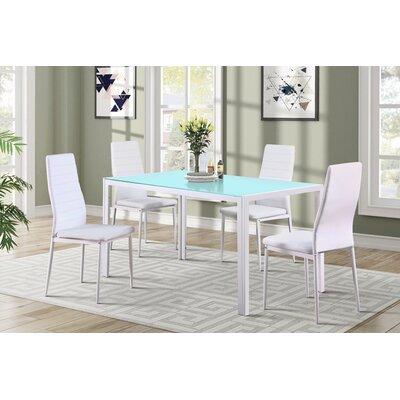 Zaugg 5 Piece Dining Set Color: White