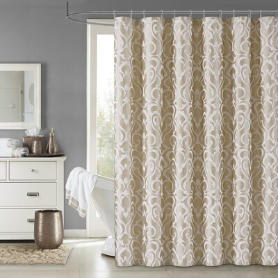Dax Shower Curtain Color: Gold