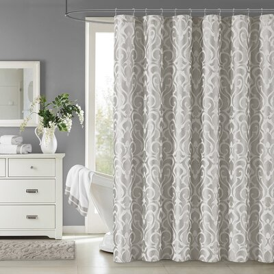 Dax Shower Curtain Color: Silver