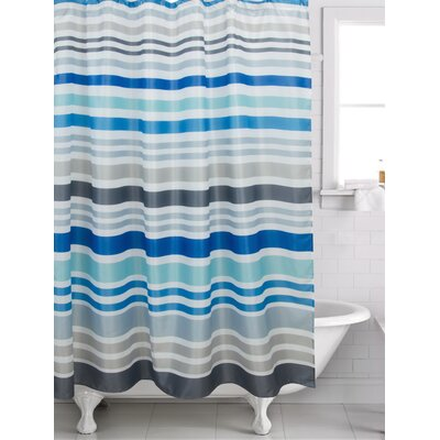Wychwood Stripe Shower Curtain Color: Gray