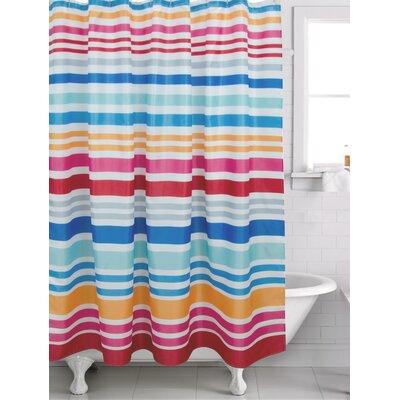 Wychwood Stripe Shower Curtain Color: Magenta
