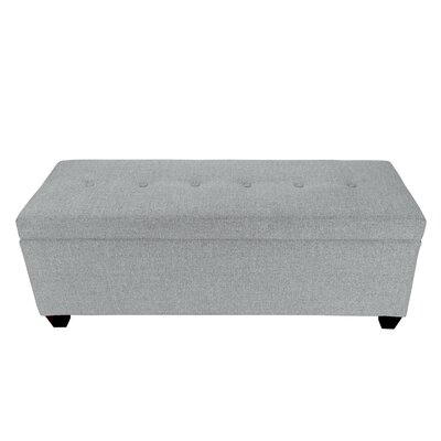 Lamanna Upholstered Storage Bench Color: Stone