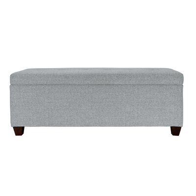 Lalonde Upholstered Storage Bench Color: Stone, Nailhead: No
