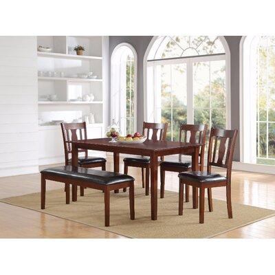 Hopley Wooden 6 Piece Dining Set