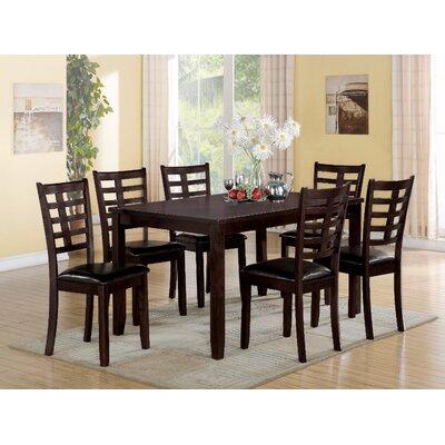 Bilotta Wooden 7 Piece Dining Set