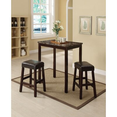 Port Augusta 3 Piece Counter Height Dining Set