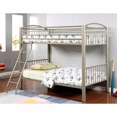 Fonville Metallic Twin Over Twin Bunk Bed