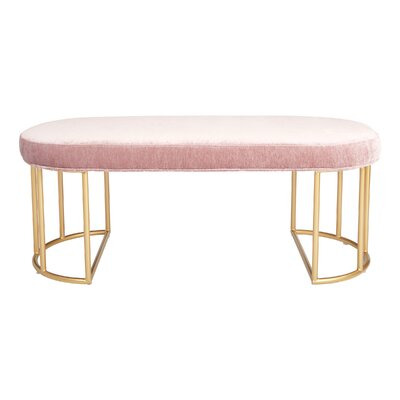 Kirkley Upholstered Bench Upholstery: Rose