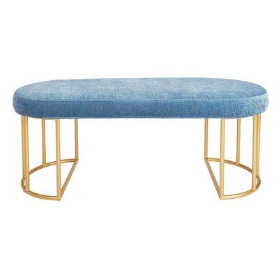 Kirkley Upholstered Bench Upholstery: Royal