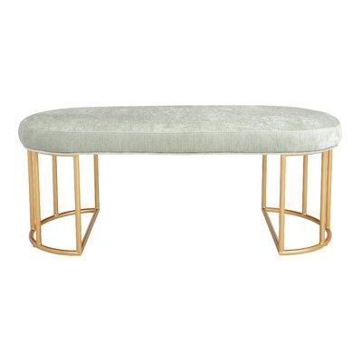 Kirkley Upholstered Bench Upholstery: Mint