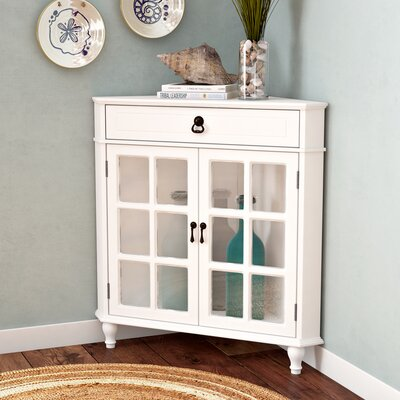 Parina 1 Drawer 2 Door Accent Cabinet Color: Antique White