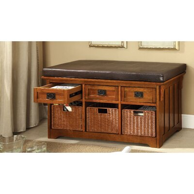 Wight Faux Leather Storage Bench