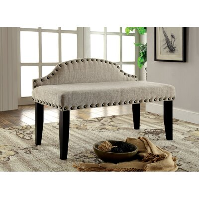 Fagundes Wood Bench Upholstery: Beige