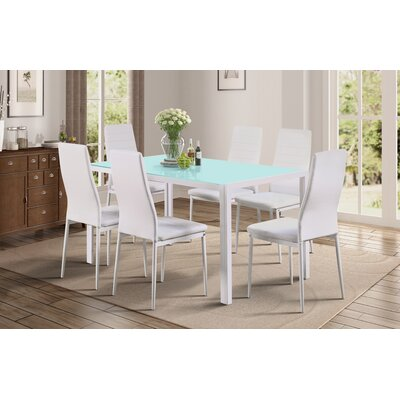 Rassier 7 Piece Dining Set Color: White