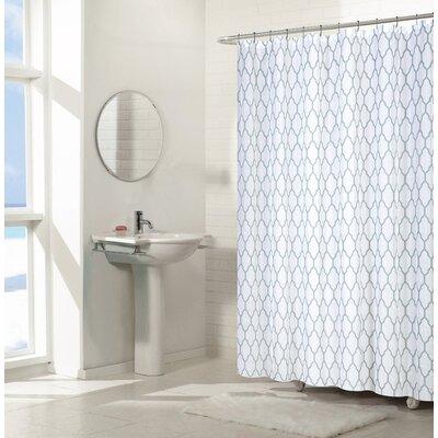Pyne Trellis Chic Shower Curtains Set Color: Aqua