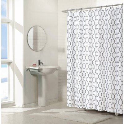 Pyne Trellis Chic Shower Curtains Set Color: Gray