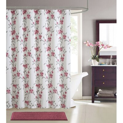 Gallager Shower Curtain Set Color: Cherry Blossom Pink