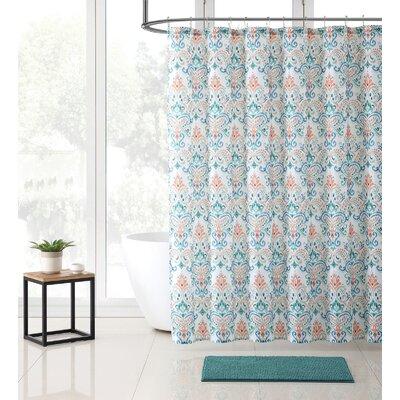 Gallager Shower Curtain Set Color: Marlene Teal