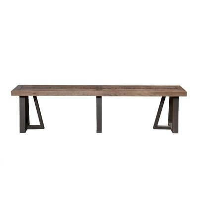 Candide Wood/Metal Dining Bench