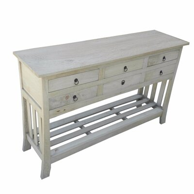 Wootton Wooden Console Table Color: White