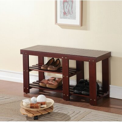 Pereyra Wood Storage Bench