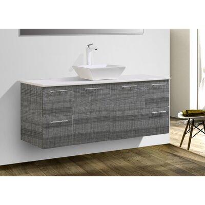 """Stingley 60"""" Wall Mounted Single Bathroom Vanity Set"""