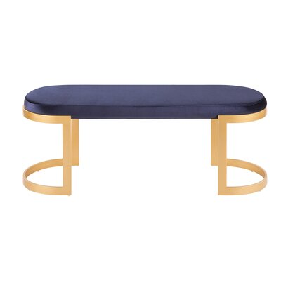 Gioia Bench Upholstery: Navy Blue