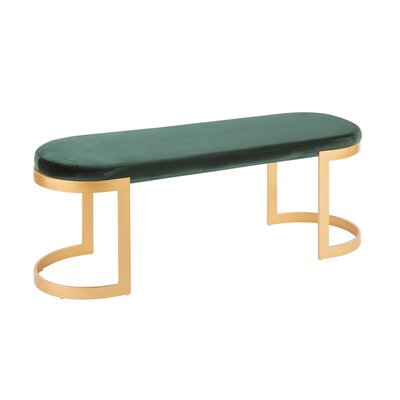 Gioia Bench Upholstery: Green