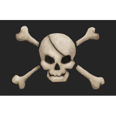 Klima Pirate's Treasure Skull Bath Rug