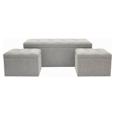 Fason Upholstered Storage Bench and Ottoman